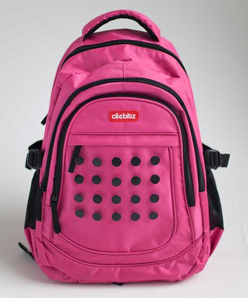clicbitz-backpack-pink